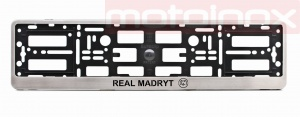 MAZDA 3 Car license plate frame in stainless steel  (1) (1) (1) (1)
