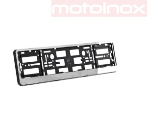 Car license plate frame in stainless steel - individual design