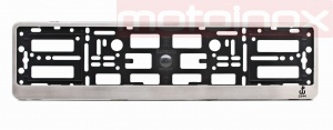 MAZDA 3 Car license plate frame in stainless steel  (1)