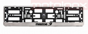 MAZDA 3 Car license plate frame in stainless steel
